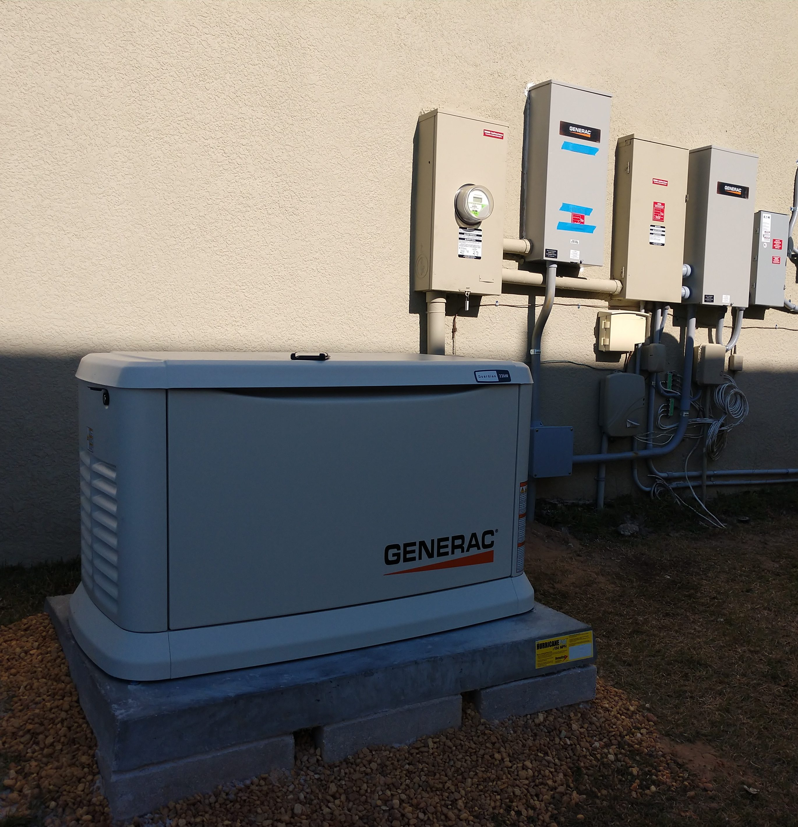 Generac Generator installed by Airprompt electric